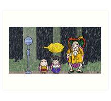 DB-Totoro Art Print