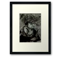 A Pleasant Chav Leaning on a Sill... With Shank! Framed Print