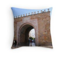 Gateway to the Medina in Tunis Throw Pillow
