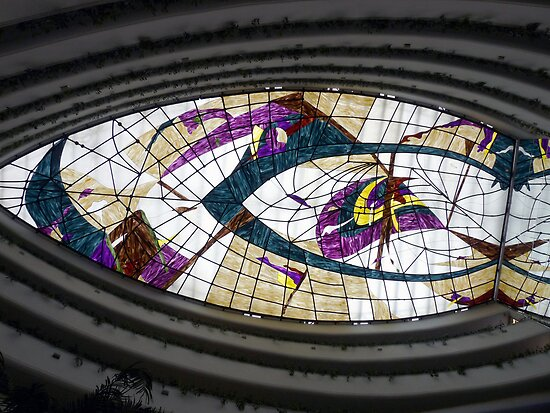 Stained Glass Ceiling - Hotel Rabat by Lucinda Walter