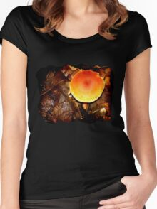 Orange Milkcap [Lactarius aurantiacus] Women's Fitted Scoop T-Shirt