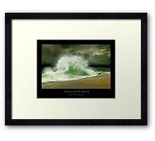 The Master Wave Framed Print