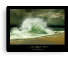 The Master Wave Canvas Print