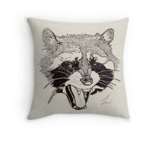 Rockin' Raccoon Throw Pillow
