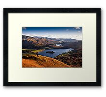 View of Grasmere & Rydal Water, Cumbria Framed Print