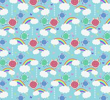 Rainbow Butterfly Turtles Pattern by SaradaBoru