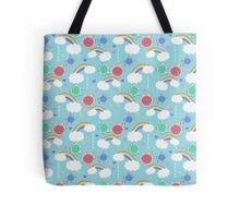 Rainbow Butterfly Turtles Pattern Tote Bag