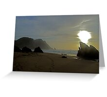 Adraga beach   -  3 Greeting Card
