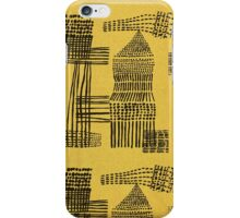Yellow Abstract Minimalist Pattern Vintage iPhone Case/Skin