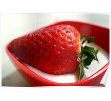 Strawberry yogurt Poster
