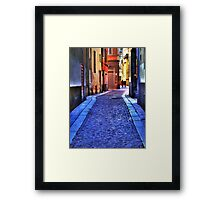 Small street in Parma  Framed Print