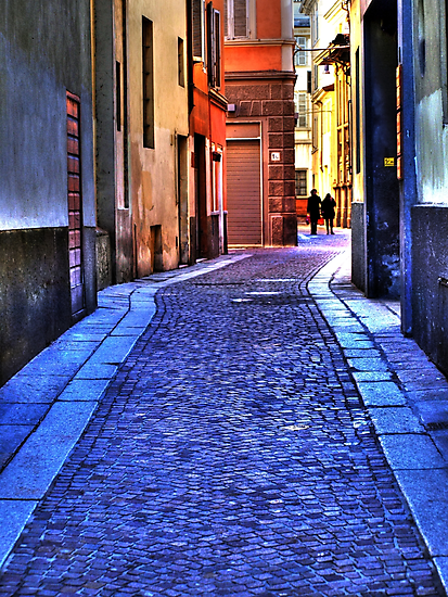 Small street in Parma  by marcopuch