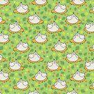 Spring Flowers Chicken Pattern by SaradaBoru
