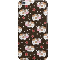Stars and Cows Brown Pattern iPhone Case/Skin