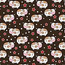 Stars and Cows Brown Pattern by SaradaBoru