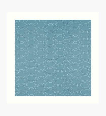 Dark Grey Minimalist Geometric Pattern  Art Print