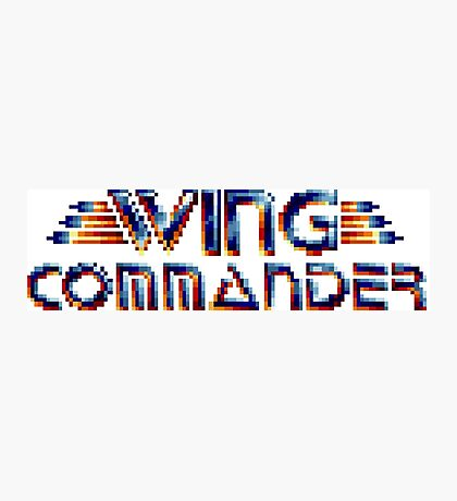 Wing Commander - SNES Title Screen Photographic Print