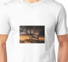 Bench by the road  Unisex T-Shirt