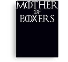 Mother of Boxers Parody T Shirt Canvas Print