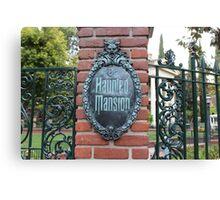 Haunted Mansion Disneyland Canvas Print
