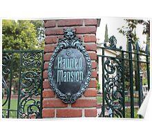 Haunted Mansion Disneyland Poster
