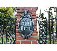 Haunted Mansion Disneyland Photographic Print
