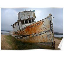 Rusted Boat Poster
