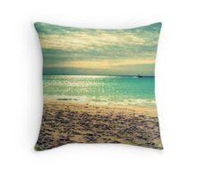 Beach in Playa del Carmen Mexico Throw Pillow