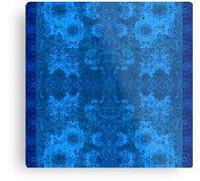Designer textiles-Pseudo Pompous Baroque :Not afraid of the blue fox Metal Print