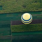 Balloon over fields - Al Qurnah by JamesTH