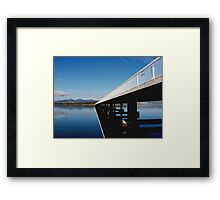 Crossing at Midway Point Framed Print