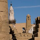 Mosque on Karnak Temple by JamesTH