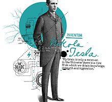 Nikola Tesla by IKOGRAPHIK