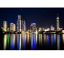 Surfers by Night Photographic Print