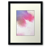 Cloud man superhero Framed Print
