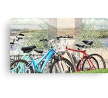 Bikes In Front of Mural Canvas Print