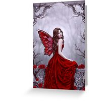 Winter Rose Butterfly Fairy Greeting Card