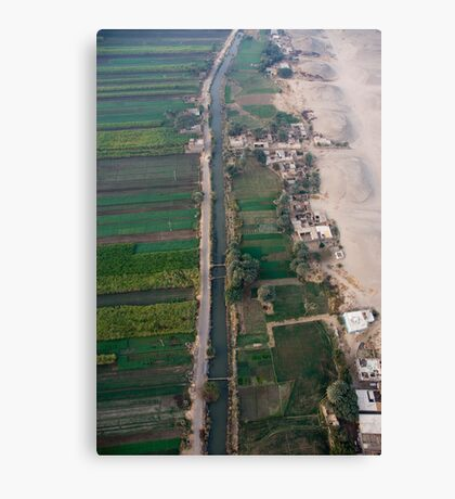 Desert Irrigation - Al Qurnah Canvas Print
