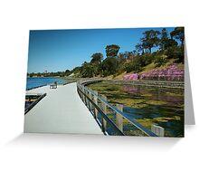 Rippleside Board Walk, Geelong Greeting Card