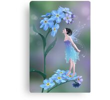 Forget-Me-Not Flower Fairy Canvas Print