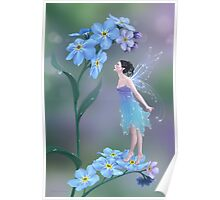 Forget-Me-Not Flower Fairy Poster