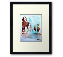 At the Finish Framed Print