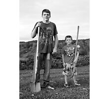 The Boys Next Door Photographic Print