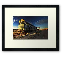 Dust Storm Express Framed Print