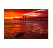 Oceanside Pier at Sunset Art Print