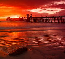 Oceanside Pier at Sunset by bengraham