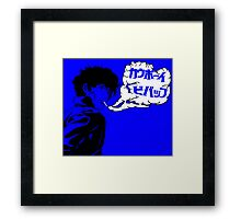 Havin' a Smoke (Blue) Framed Print