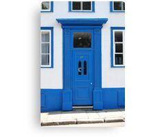Blue and White Residence Canvas Print