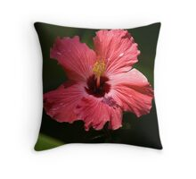 Happy Hybiscus Throw Pillow