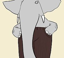 elephants wear corduroy [print] by Paul McClintock